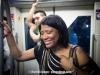 Vivianne on Skytrain.  Bangkok, Thailand