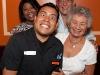 Vivianne, waiter, Ramon and Eileen