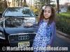 Thalia with Matthew's car