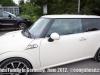 Benedict behind the wheel of his Mini at Gasthaus am schiffin Mammern, Switzerland