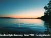 Sunset on Lake Konstanz.  Allensbach, Germany