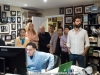 Helio Alves, Hiromi Suda, Anne Drummond, Martin and Matthew Cohen, Keita Ogawa, Tatsuya Sakurai and Petros Klampanis with Javier Raez on computer