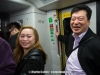 Chen Chen and Simon on the HK MTR