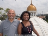 Raj and Vivianne Cohen on the roof of Wijaya's building