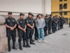 Matthew Cohen with his security team. Lima, Peru.