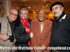 Almost 91 year old percussion legend, Candido, Martin Cohen with his buddy, Roberto and wife