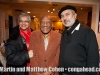 Almost 91 year old percussion legend, Candido with his buddy, Roberto and wife