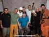 Javier Raez, Robby Ameen, Pedro Pedrito Martínez, Oscar Hernandez (seated), Juan Wüst, Carlos Henriquez, Martin Cohen and Bob Franceschini