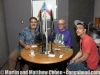 Robert Padilla, Martin and Matthew Cohen in Robert's interview studio