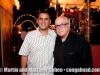 Charlie Santiago and Martin Cohen.  Christmas Eve. Coamo, Puerto Rico block party