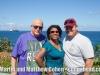 Martin and Vivianne Cohen and Wilfredo Mercado at El Moro, Puerto Rico