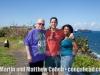Martin, Matthew and Vivianne Cohen at El Moro, Puerto Rico