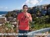 Matthew Cohen at El Moro, Puerto Rico with La Perla in the background
