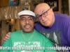 Martin Cohen and Cachete Maldonado  in Cachete's home in Barrio Abrero, Puerto Rico