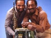 Grover Washington, Jr. and Ralphl MacDonald.. My photo studio.  Hillsdale, NJ.  1981