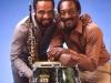 Grover Washington, Jr. and Ralphl MacDonald.. My photo studio.  Hillsdale, NJ.  1981