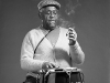 Dizzy Gillespie stopped by my photo studio for a photo shoot.  I made a special exception for him and let his smoke his cigar.