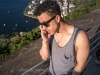 Matthew working on a film deal on Pan de Azucar, Rio de Janeiro, Brazil