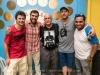 Bernardo Agular, André Goffi, Martin Cohen, Guto Goffi and Javier Raez at Maracatu Brasil, Rio de Janerio, Brazil