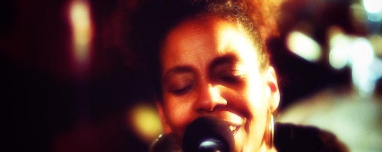 Xiomara Laugart at the Zinc Bar.  January 12, 2012