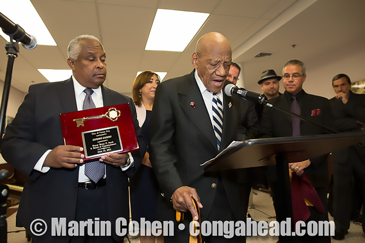 Union City Artist Awards.  Candido Camero gets key to city.  June 15, 2012