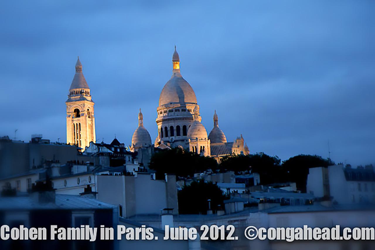 The Cohen family in Paris.  June, 2012