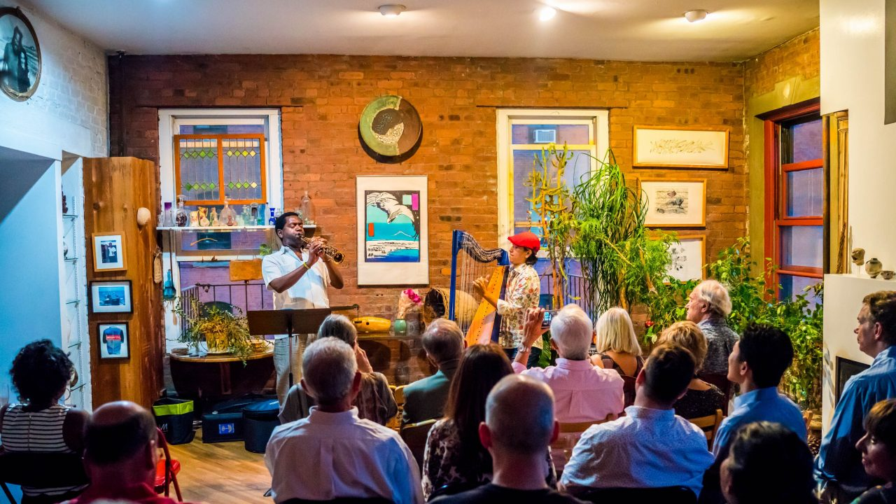 Jazz Gallery Fund Raiser hosted at Gammy and Ken's loft in the West Village, NYC