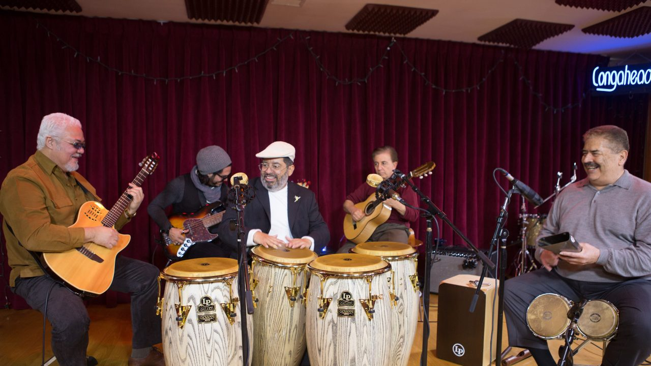 Giovanni Hidalgo & Friends perform at Congahead Studio