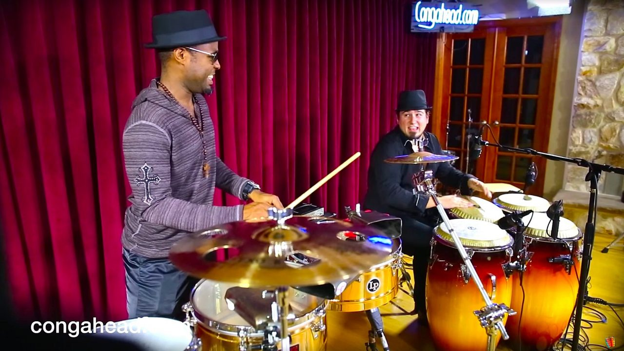 Tony Moreau Charon and José Montaña percussion duo.  March 17, 2013