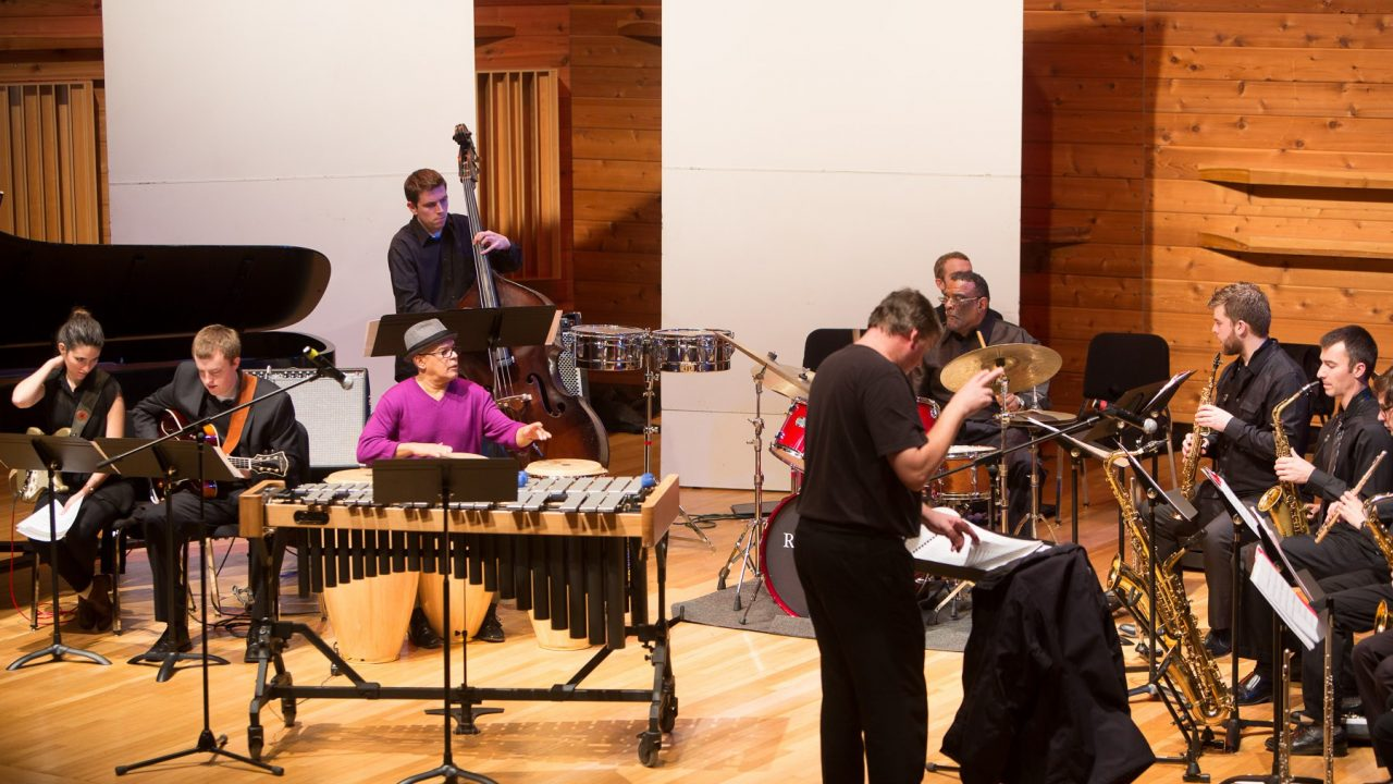 Rutgers Jazz Ensemble.  Directed by Conrad Herwig and featuring Joe Chambers and Little Johnny Rivero