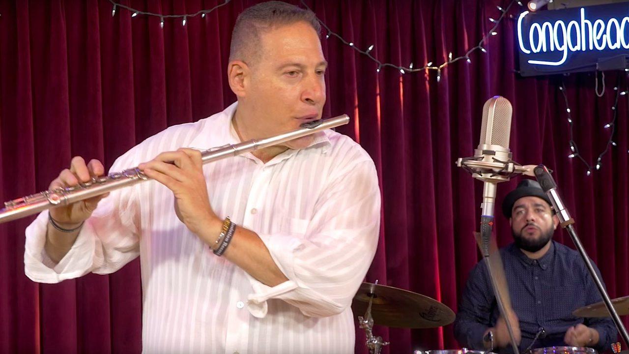Mitch Frohman Latin-Jazz Quartet perform at Congahead Studios