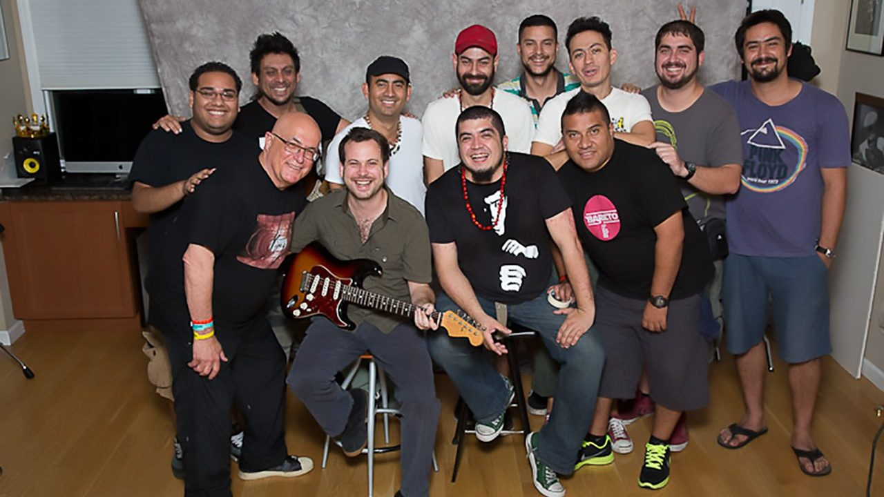 Peruvian Cumbia Band, Bareto performs for congahead.com.  July 30, 2012