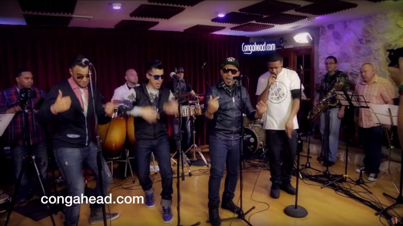 Daniel Antonetti/Deecoy with N'Klabe video recording at congahead.com studio.