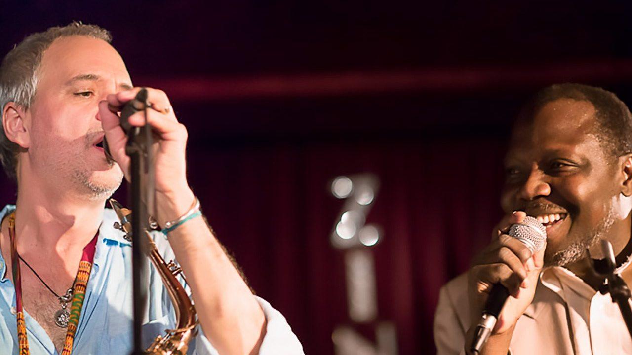 Sylvian Leroux with Abdoulaye Diabaté-Source at the Zinc Bar, NYC.  June 1, 2012