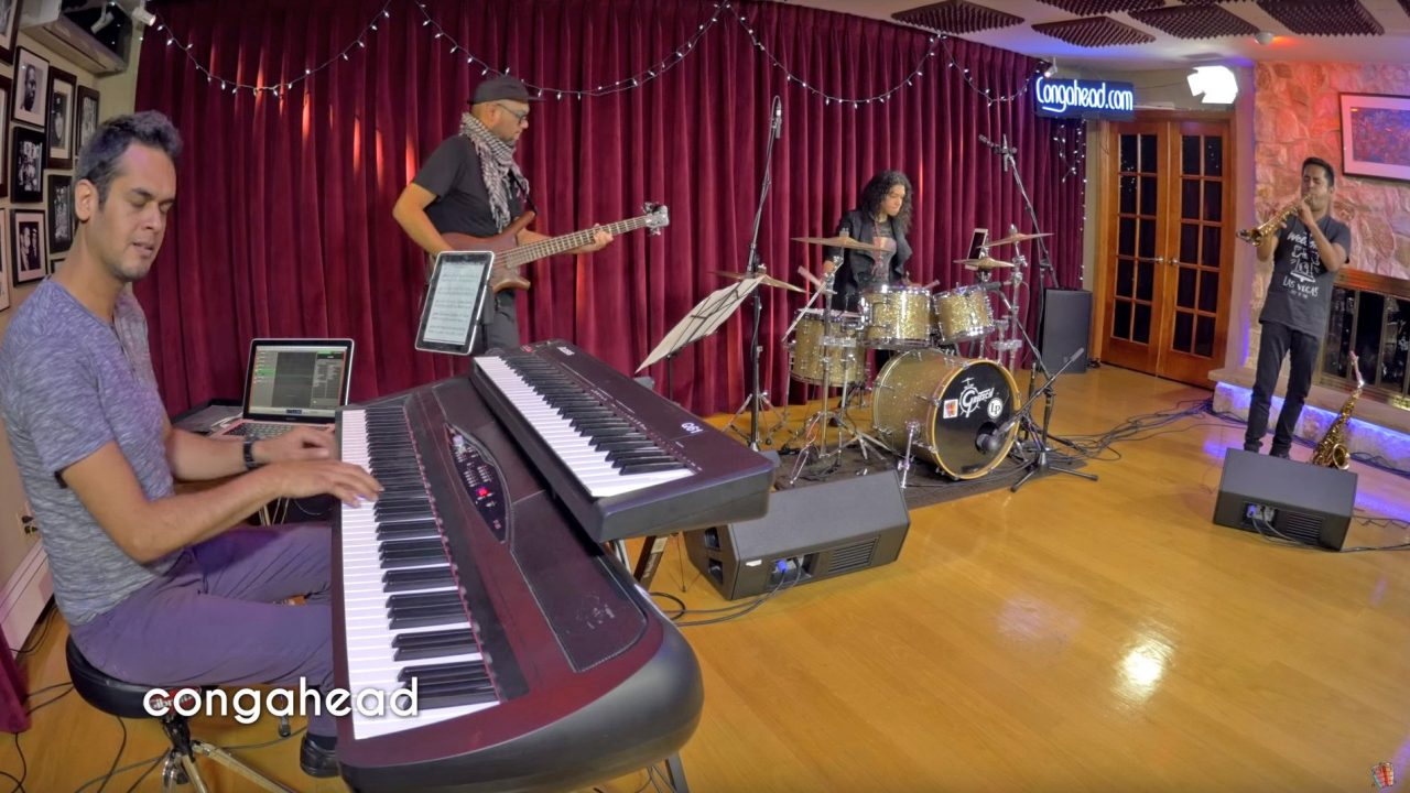 4T performs at Congahead Studios