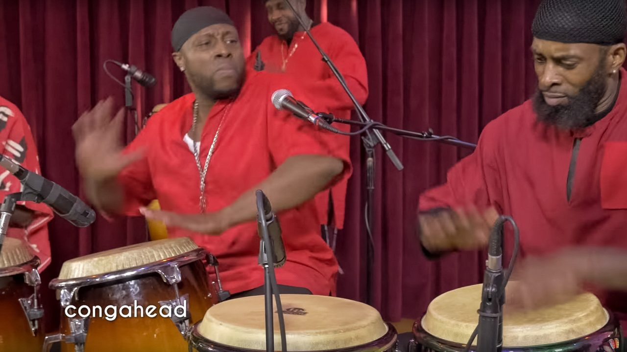 Mishpaka Drummers performing We're Gonna Praise.