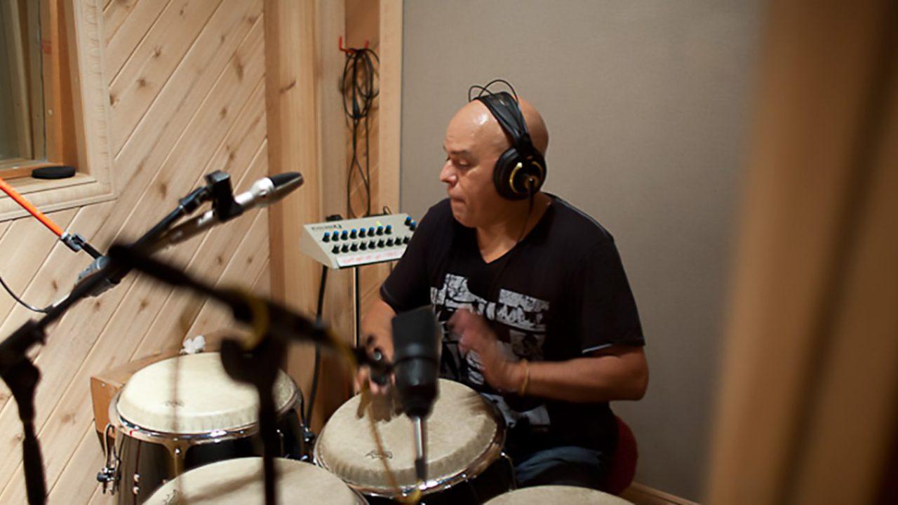 Little Johnny Rivero recording session.  October 19, 2011