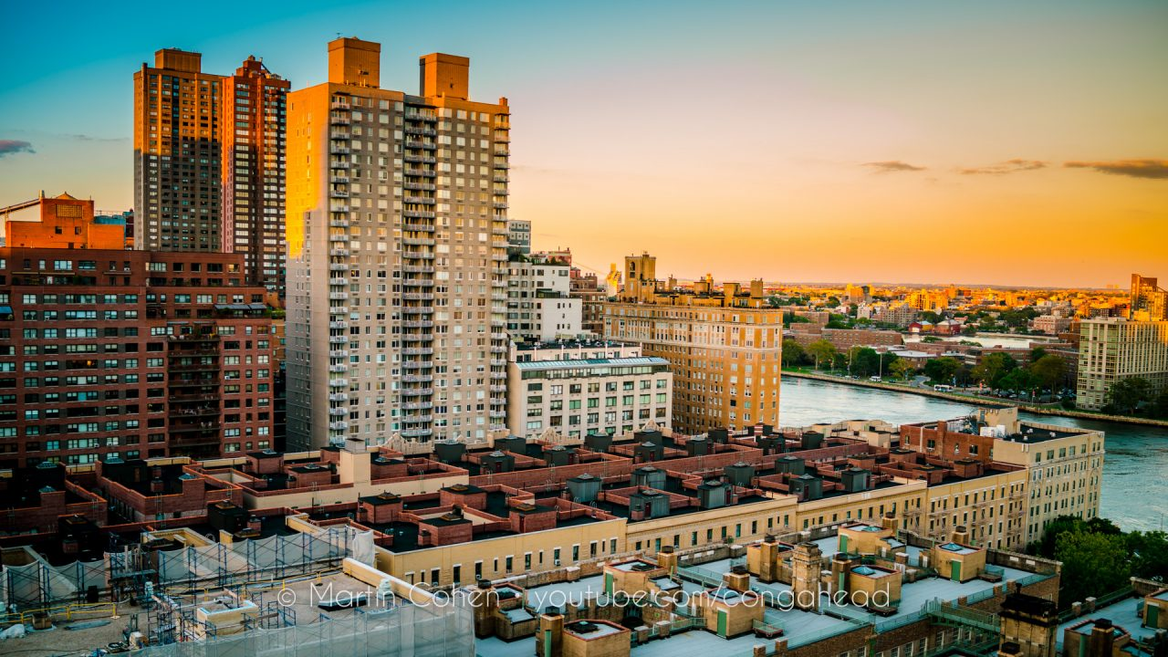 A view of the Upper East Side of NYC