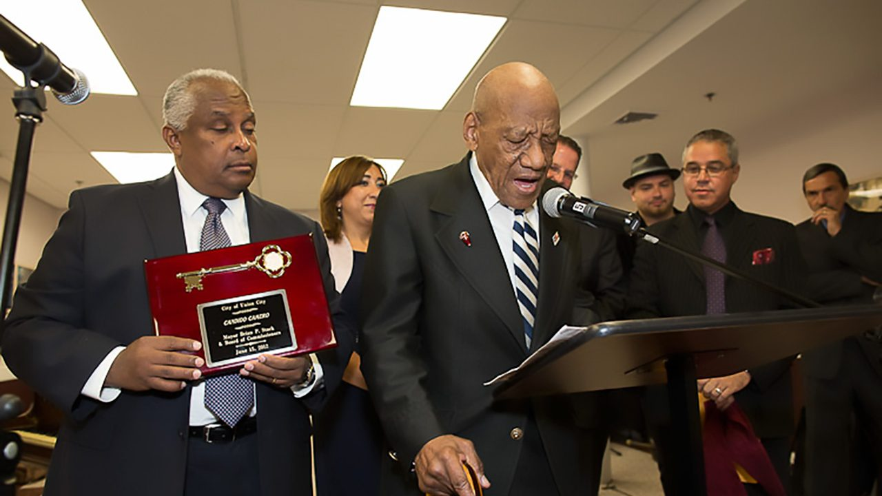 Union City Artist Awards.  Candido Camero gets key to city.  June 15, 2012