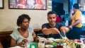 Vivianne and Matthew in Joe's Shanhai restaurant in Chinatown
