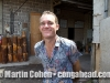 Matt from Australia at the Drum Factory. Ubud, Bali, Indonesia