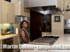 Vivianne Cohen admiring the kitchen in Eddy and Anit's home in Ubud, Bali, Thailand