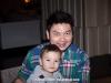 Chai and his son, Pele. Hilton Millenium. Bangkok, Thailand