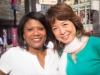 Vivianne Cohen and Kumi Masanuga. Causeway Bay, Hong Kong
