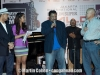 Jay Alatas in hat at his CD release party.  George Duke in Jacket with Peter Gontha