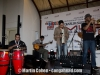 Steve Thornton, conga,  Indra Lesmana on synth,  Maurice Brown, trumpet