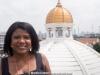 Vivianne Cohen on the roof of Wijaya's building