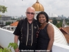 Martin and Vivianne Cohen on the roof of Wijaya's building