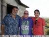 Robert Padilla, Martin and Matthew Cohen at Robert's home in Cupey Alto, Puerto Rico