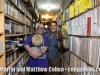 Martin Cohen and Robert Padilla with Robert's vintage LP bongos